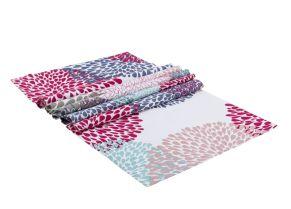 Das Thema Pusteblume in wunderschönen, harmonischen Farben umgesetzt. Maße: ca. 160 x 50 cm, Material: 100% Baumwolle.<br>