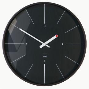 Diese Uhr ist mit einem sehr leisen Quarzuhrwerk, gleitenden Zeigern und vollverkleideter Rückwand ausgestattet. Das Uhrwerk ist geschützt, Maße: ca. Ø 36 x T6 cm, Material: matiertem Kunststoff und Mineralglas.<br>