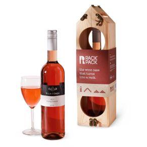 Flexibles Designmöbel für den kleinen Preis. Ob vertikal für 3 Flaschen, aufgeklappt für 6 Flaschen oder liegend für bis zu 12 Flaschen, so lässt sich das Weinregal für alle Wünsche in nur wenigen Schritten umbauen. Mit einer 0,7l Flasche Mosel Villa Römer Rotling feinherb , Maximale Belastung aufgeklappt: 10 kg, Maße: vertikal ca. B12 x H40,5 x T11 cm, Gewicht: ca. 2,3 kg, Material: Fichtenholz (China). Allergiehinweis: Enthält Sulfite<br>