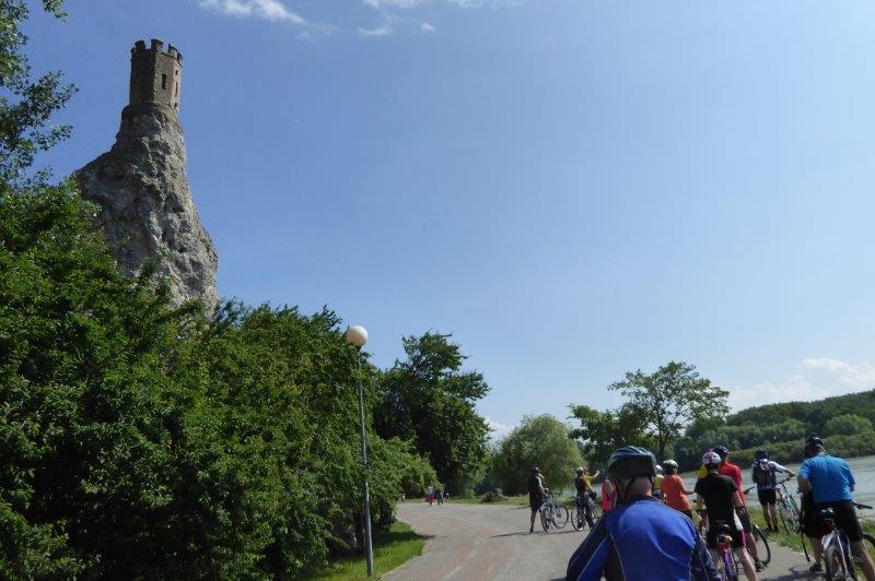 Radtour Bratislava - Burg Devin