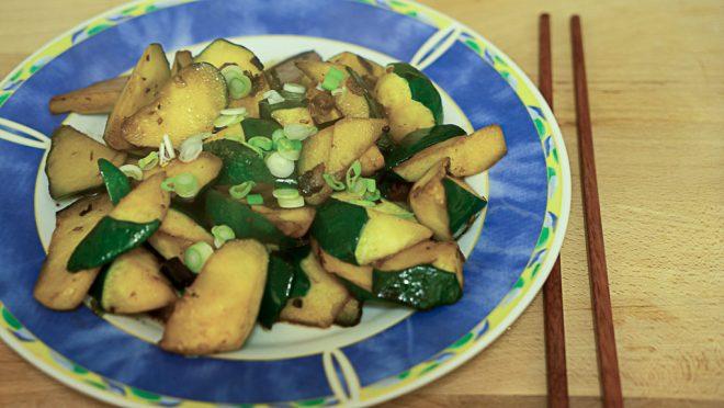 Zucchini in Reisessig Sauce (3 von 3)