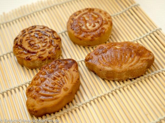Mondkuchen mit Rotebohnen-Paste-Fülling