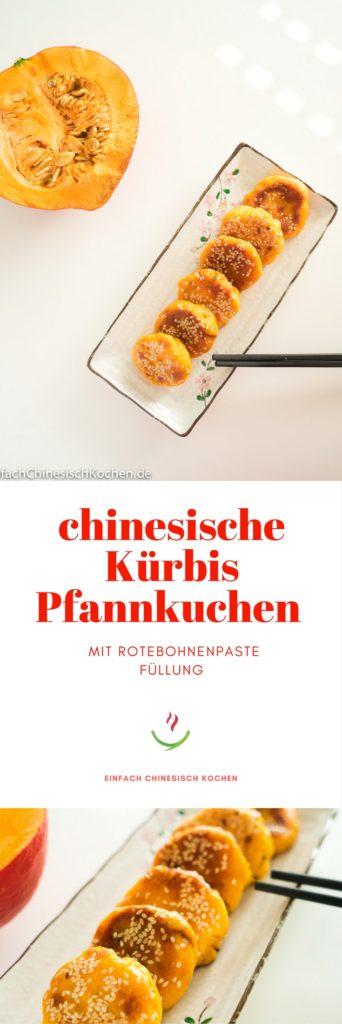 豆沙南瓜饼-chinesische Kürbis Pfannkuchen mit Rotebohnenpaste Füllung