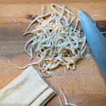 Grundrezept -handgemachte chinesische Nudeln