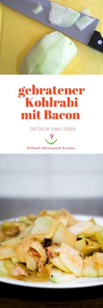 gebratener Kohlrabi mit Bacon