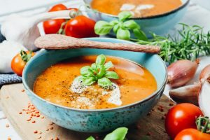 Tomaten Linsen Suppe