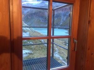 Blick aus dem Lager der Neuen Fürther Hütte auf den Katzenbergsee, www.einfachmalraus.net