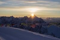 Sonnenaufgang auf dem Zugspitzplatt