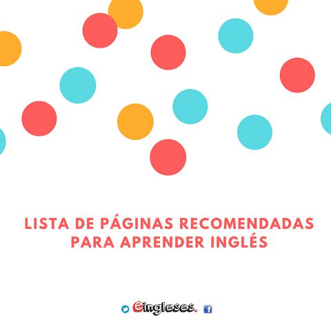 Lista de páginas recomendadas para aprender inglés