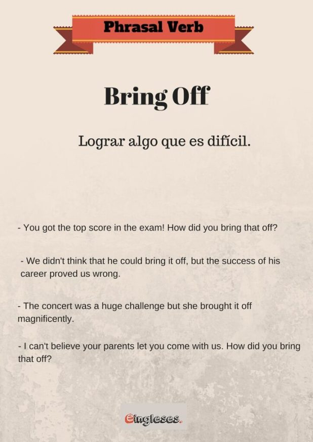 Phrasal Verb - Bring Off