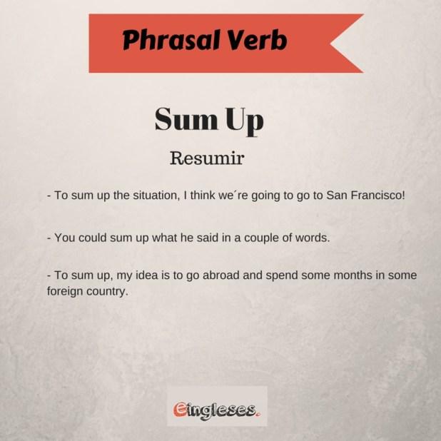 Phrasal verb - Sum Up