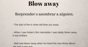 Phrasal verb of the day - Blow away