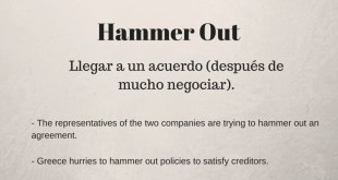 Phrasal verb of the day - Hammer Out