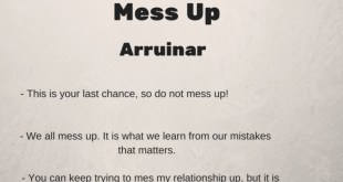 Phrasal verb of the day - Mess Up