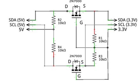 Be careful about which wires are actually connected and which are not. The SCL wires are crossing others but you see by the dots which they actually connect to.