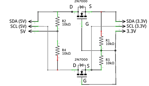 i2c logic level converter  u2013 building our own