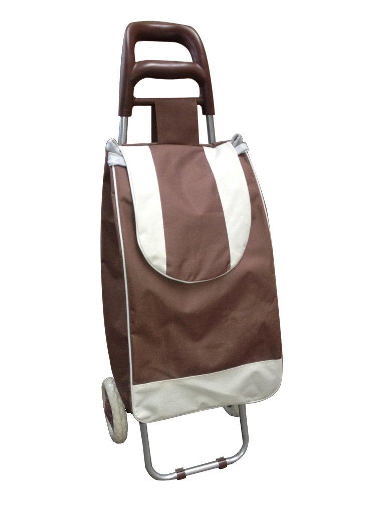 Einkaufstrolley Einkaufstasche Farbe Braun Image