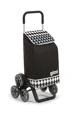 Einkaufstrolley Gimi schwarz weiss / Einkaufstrolley-Vergleich.de