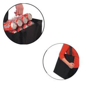 ROLSER Shopping Bag MAXI SHB Polar schwarz Detail | Einkaufstrolley-Vergleich.de