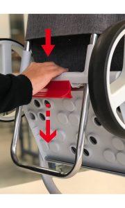 Der NEUE Einkaufsroller Rolser COM Tweed 8 - Klappmechanismus 2 - Außergewöhnliches Design - Einkaufstrolley-Vergleich.de
