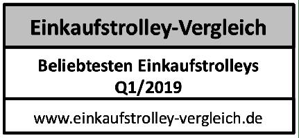 Die beliebtesten Einkaufstrolleys Q1/2019 ➤ TOP 3 Einkaufstrolleys