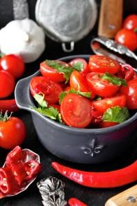 Rezept für Schnelle Tomaten-Salsa von Einmal Nachschlag, bitte!