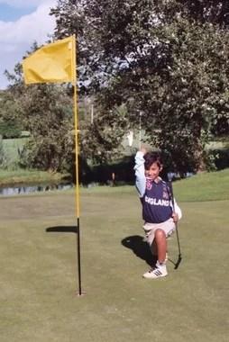 Succesvolle golfer