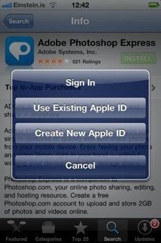 Smelltu á Create New Apple ID