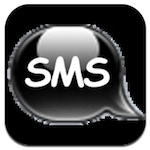 Black SMS logo