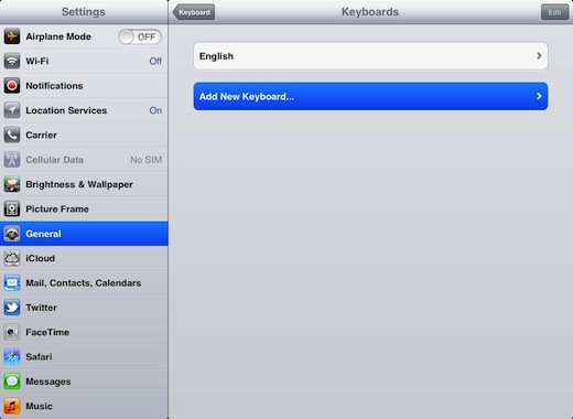 iPad íslenskt lyklaborð 3