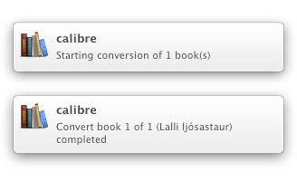 Calibre converting