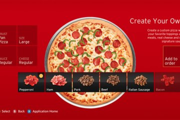 Pizza Hut appið á Xbox 360