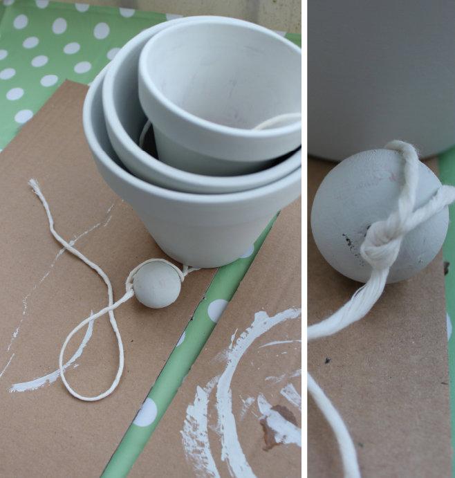 Ostern DIY, Blumenampel