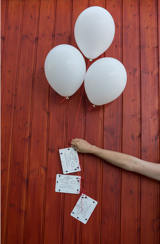 DIY Wedding: Luftballonkarten