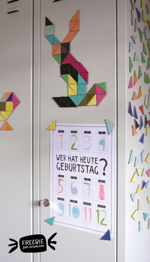 Kreatives Kinderzimmer: Geburtstagskalender