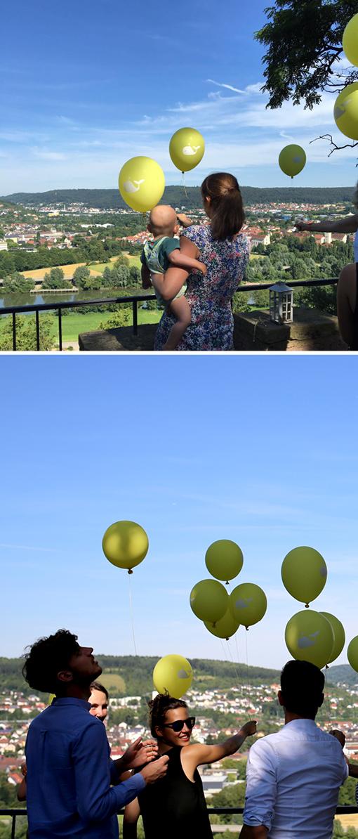 Luftballons bedrucken lassen, Herzlichst