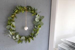 Eukalyptuskranz, Kranz binden, Winterkranz