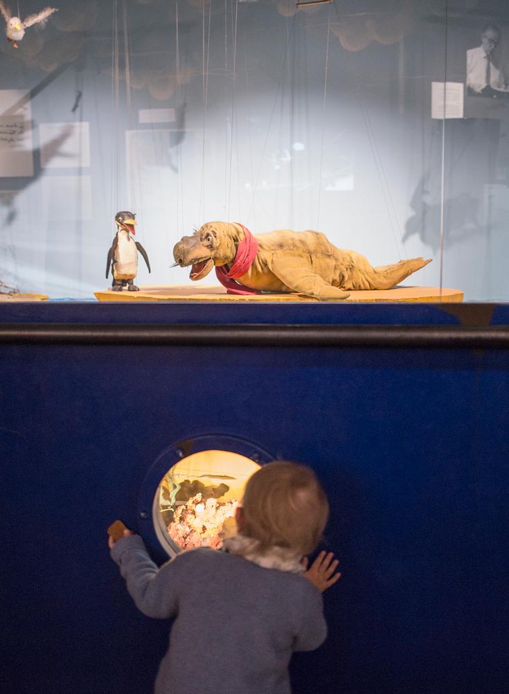 Augsburer Puppenkiste, Museum mit Kleinkind, Marionettenmuseum