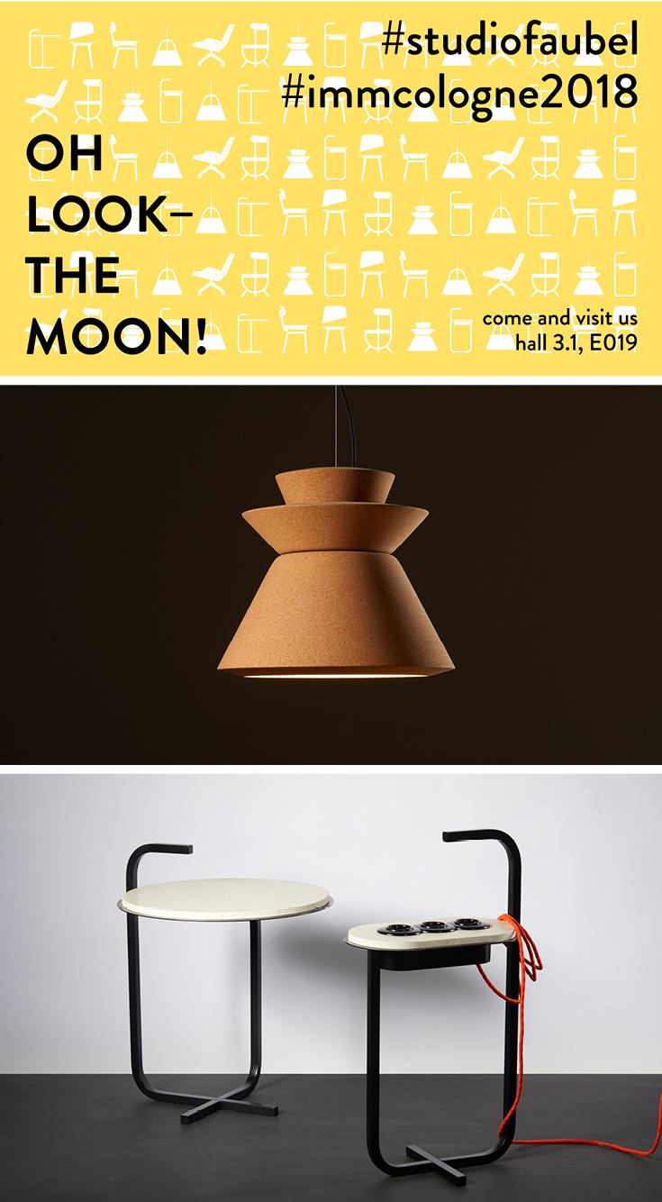 Studio Faubel, Product Design, Furniture Design, imm cologne 2018, Möbelmesse Köln, Design Lampe aus Kork, Beistelltisch Marmor, German Design, modern design, light design