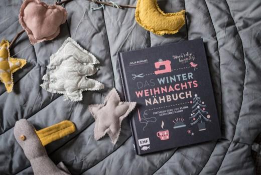 Nähbuch Weihanchten, Geschenke nähen, Weihnachtsdeko nähen, EMF, Edition Michael Fischer, DIY Buch, Nähen, Weihnachten