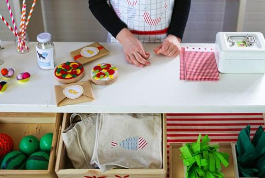 Kaufladen selberbauen, Kinderzimmer DIY, Kaufmannsladen DIY