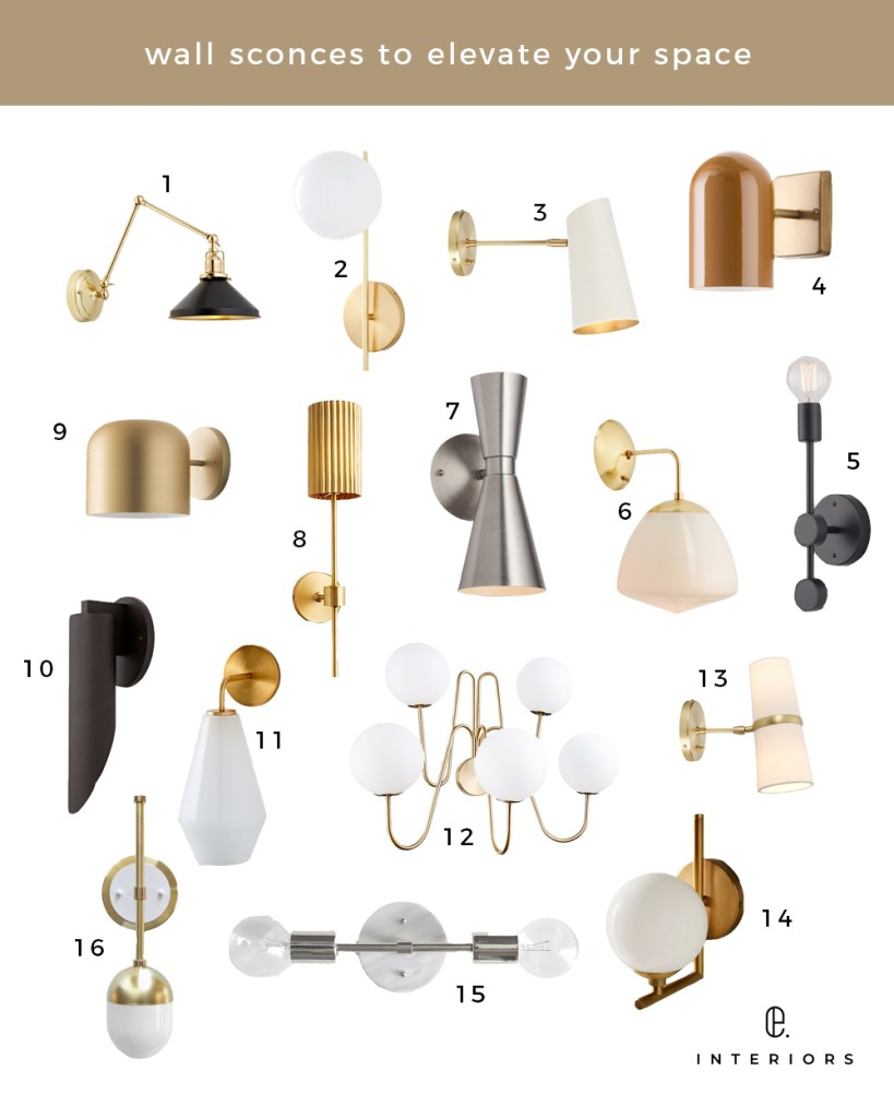 Best Wall Sconces featued by top US interior design blog E.INTERIORS