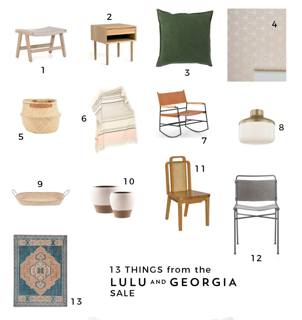 Lulu & Georgia Sale featured by top US interior design blog E.Interiors