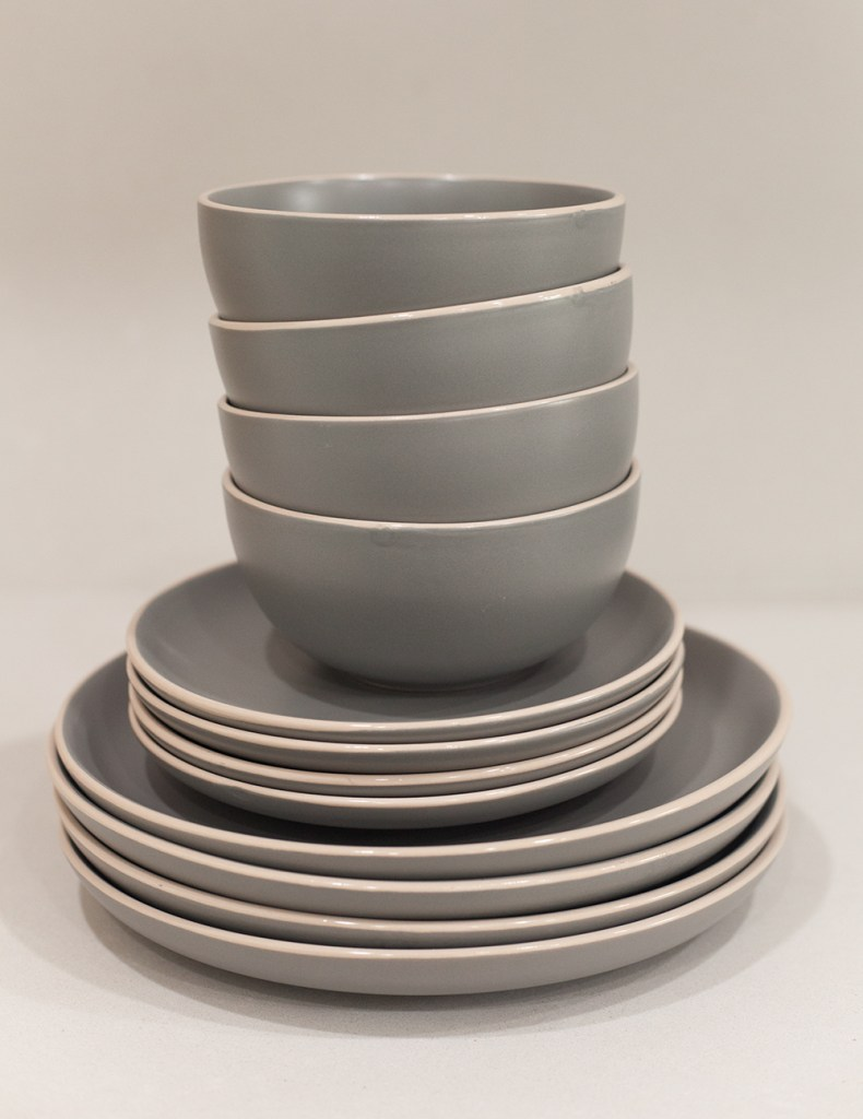 WALMART HOLIDAY ESSENTIALS by popular style blog, E. Interiors: image of Better Homes & Gardens Zuri Matte 12-Piece Dinnerware Set from Walmart.