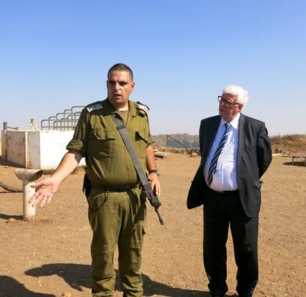 MEP Bas Belder and IDF Lt. Yitzak Malca .