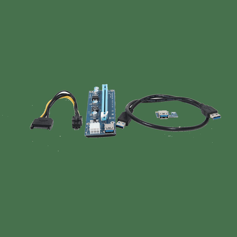 Pci E Extender Riser Card X1 To X16 Usb 3 0 6 Pin