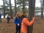 "Trusting each other and practicing communication during the ""Blind Tree Find"""