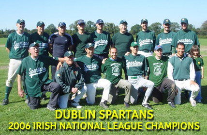 Dublin Spartans Irish Baseball League Division 1 (A) Champions 2006