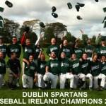 Dublin Spartans Baseball Ireland B League Champions 2011