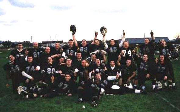 Dublin Rebels Shamrock Bowl XV Champions 2001